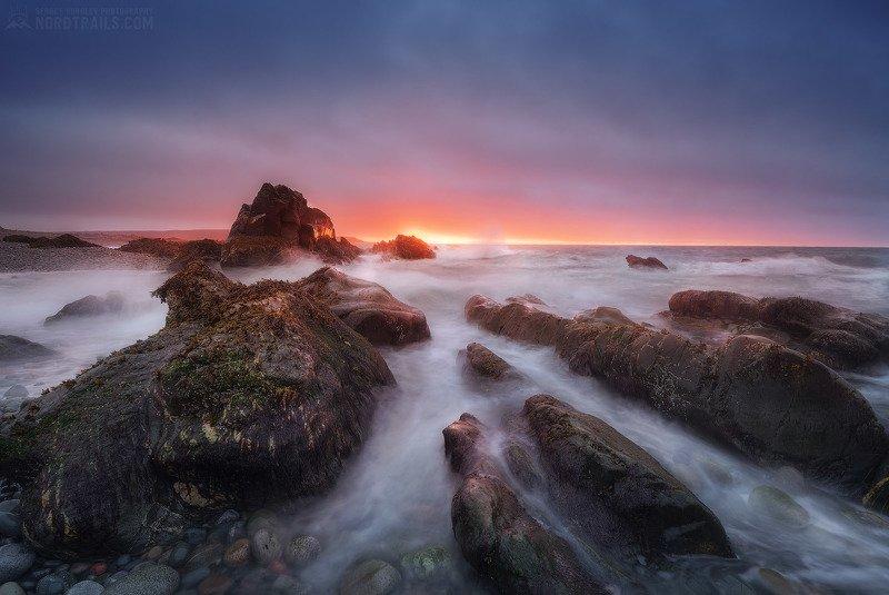 кольский, кольский полуостров, рыбачий, рыбачий полуостров, север На закате дняphoto preview