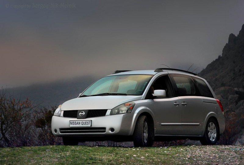 автомобиль,nissan, тачка,nissan quest, машина 3,5-литровая классика в горахphoto preview
