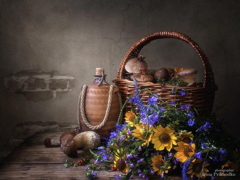 натюрморт, лето, лесные дары, грибы, букет, винтажный натюрморт, деревенский стиль Из леса, вестимо....photo preview