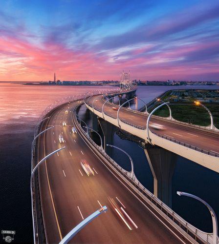Центральный участок ЗСД, мост через Корабельный фарватер