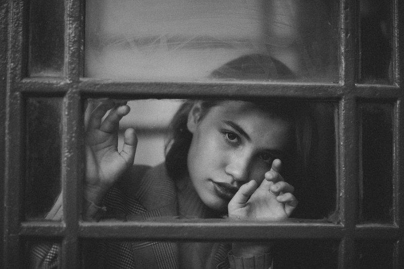 портрет, девушка, черно-белое фото Софиphoto preview