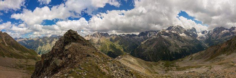 горы, облака, кавказ узункольская панорама...photo preview