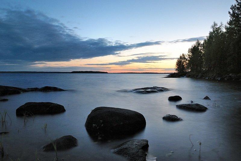 карелия, белые ночи, озеро Ночь на Юлеозере, июльphoto preview