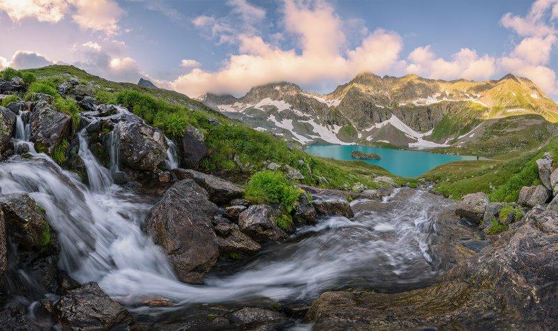 северный, кавказ, большое имеретинское озеро,рассвет, июль, Имеретинским утромphoto preview