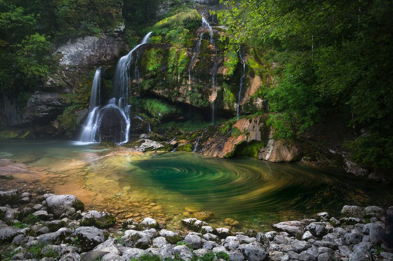 slovenia, waterfall, water, virje, nature, long exposure, slap, rock, mountain, trees, Sloveniaphoto preview