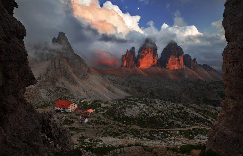 dolomites, tre cime of lavredo, 2999 meatres, italy, three peaks, south tyrol, италия, доломиты Three Peaksphoto preview