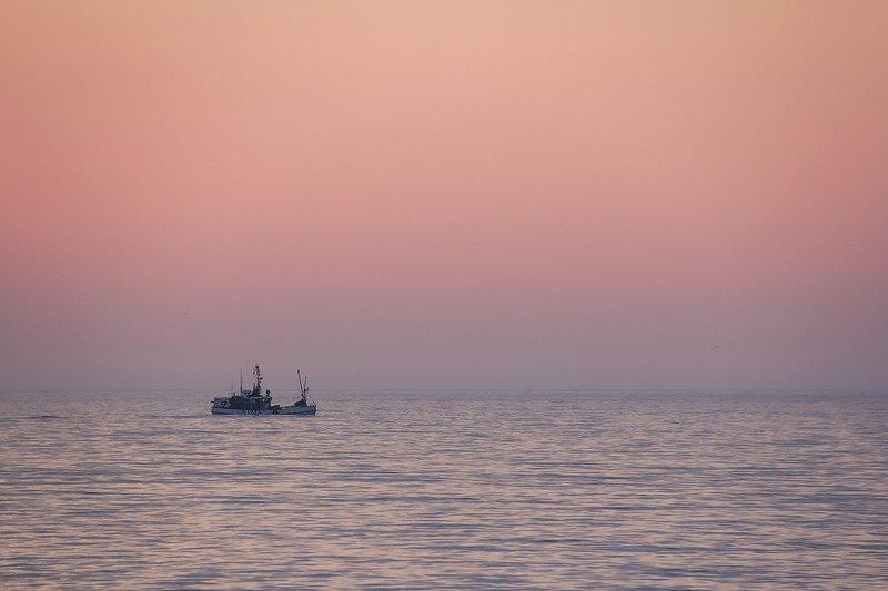 балтийское море, пейзаж, закат Нежный закат октябряphoto preview