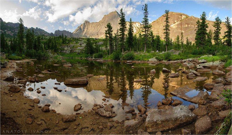 ергаки, западные саяны, озеро лазурное Утро на Лазурном озереphoto preview