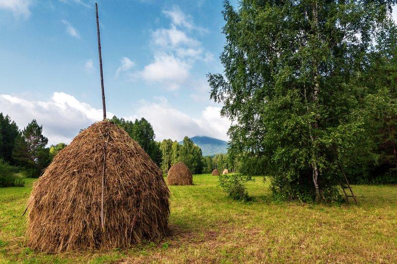 копна, сено, природа, южный урал ****photo preview