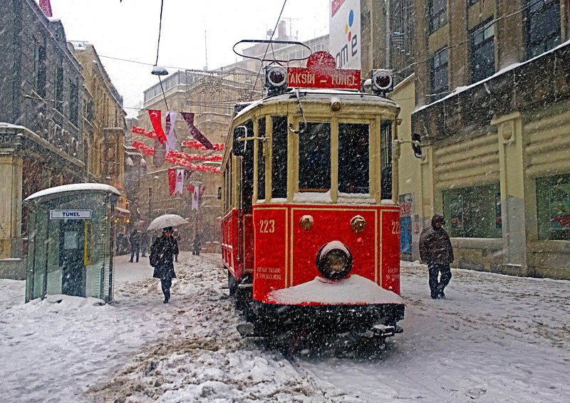 street,winter,landscape,view,art,snow,humans,travel,tram,freedom,peace,image,life, SNOWphoto preview