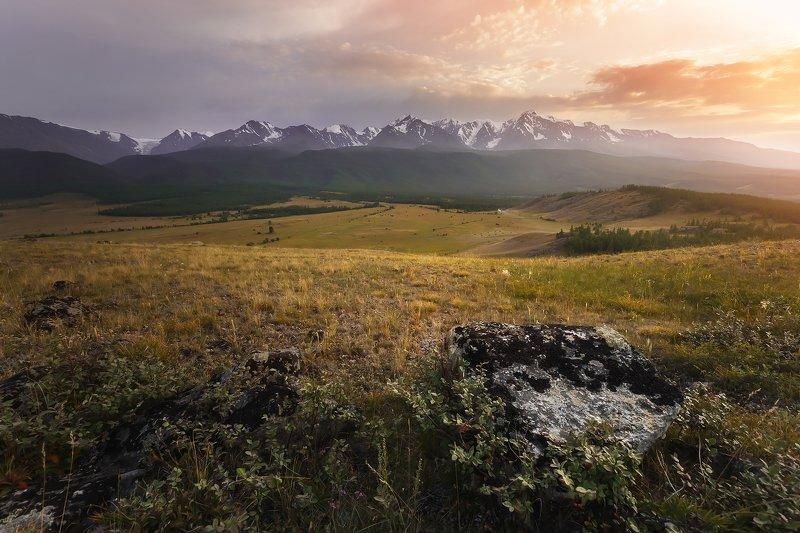 природа, пейзаж, закат, горы, алтай Сказочный Алтайphoto preview