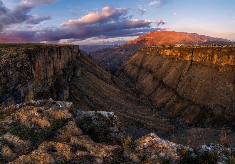 природа, пейзаж, горы, кавказ, природа россии, дикая природа, восход, свет, облака, утро, весна, ***photo preview