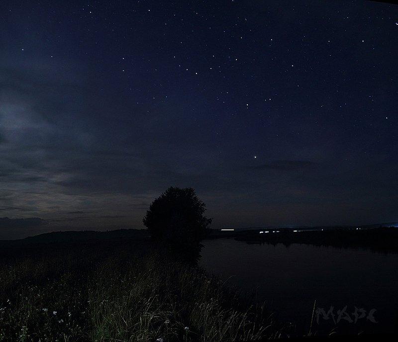 пейзаж ночь лес река башкирия река ай хорошо в деревне ночьюphoto preview