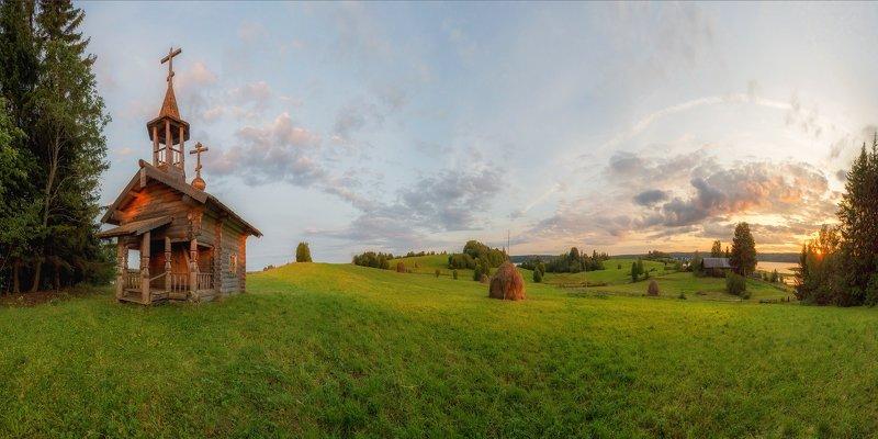 кенозеро ,кенозерье, деревня, сенокос стог ,лето ,луг, поле, пейзаж ,север Лето в Кенозерьеphoto preview