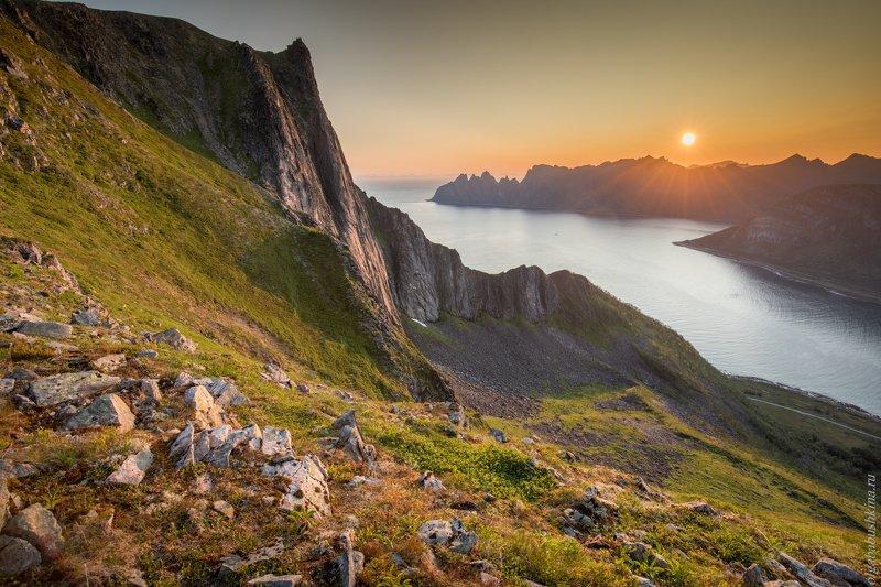 Norway, Сенья, Норвегия, рассвет, фьорд Утроphoto preview
