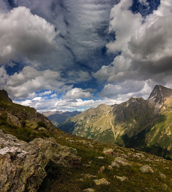 горы, облака, кавказ вальс облаков...photo preview