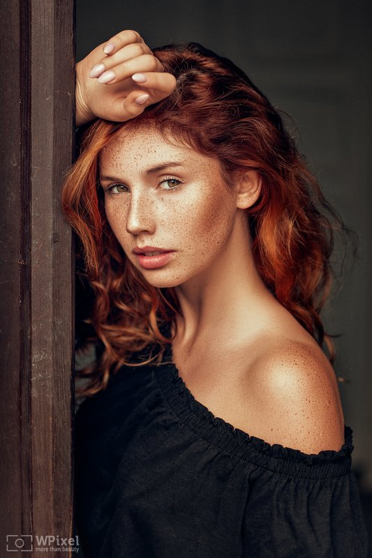 portrait women eyes redhair freckles women by wpixel (More Than Beauty)photo preview