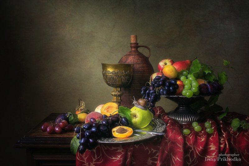 натюрморт, фрукты, изобилие, винтажный, летний Натюрморт в стиле бароккоphoto preview