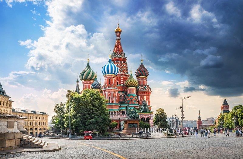 москва, собор василия блаженного, красная площадь Перед грозойphoto preview