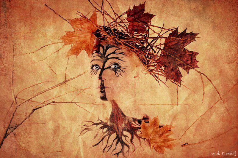 девушкуа, осень, портрет, взгляд, клён ОСЕНЬ..photo preview