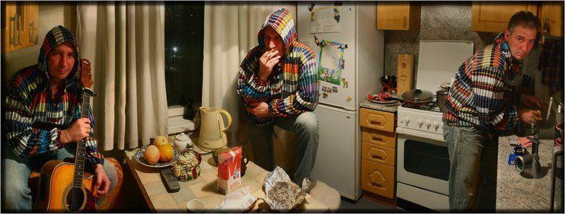Кухоннопанорамная импровизация. Три в одном или один в трех.photo preview