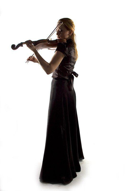 девушка, скрипка, портрет photo preview