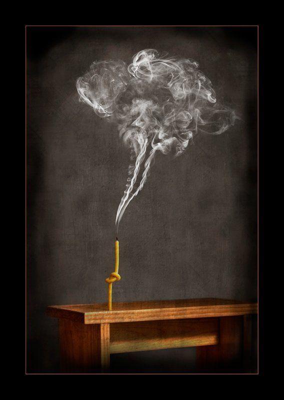 свеча, мысли, сьемка дыма Запутанные мыслиphoto preview