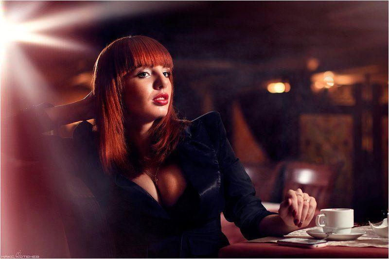 девушка, кафе, ресторан photo preview