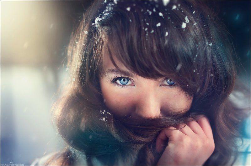 девушка, зима photo preview