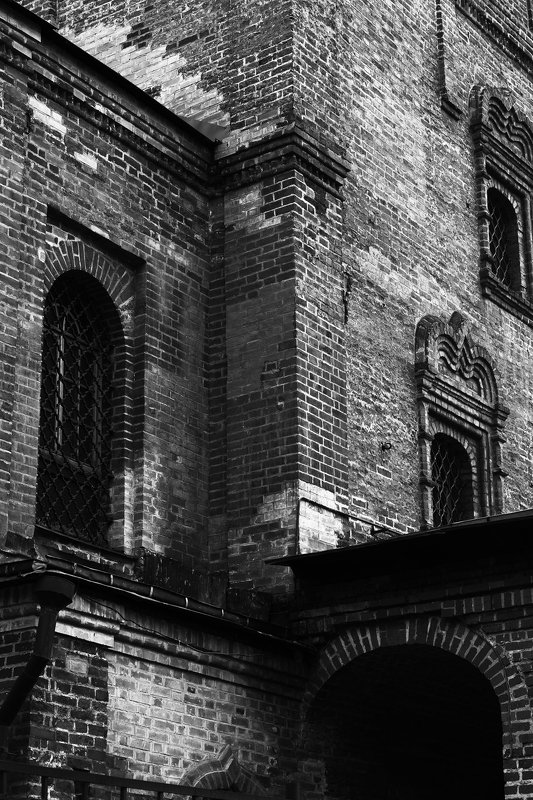 город, чб Замок №2photo preview