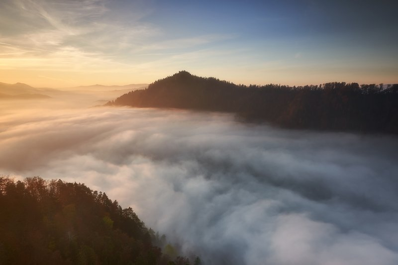 inversion, pieniny, tatry, fog, autumn Under the coverphoto preview