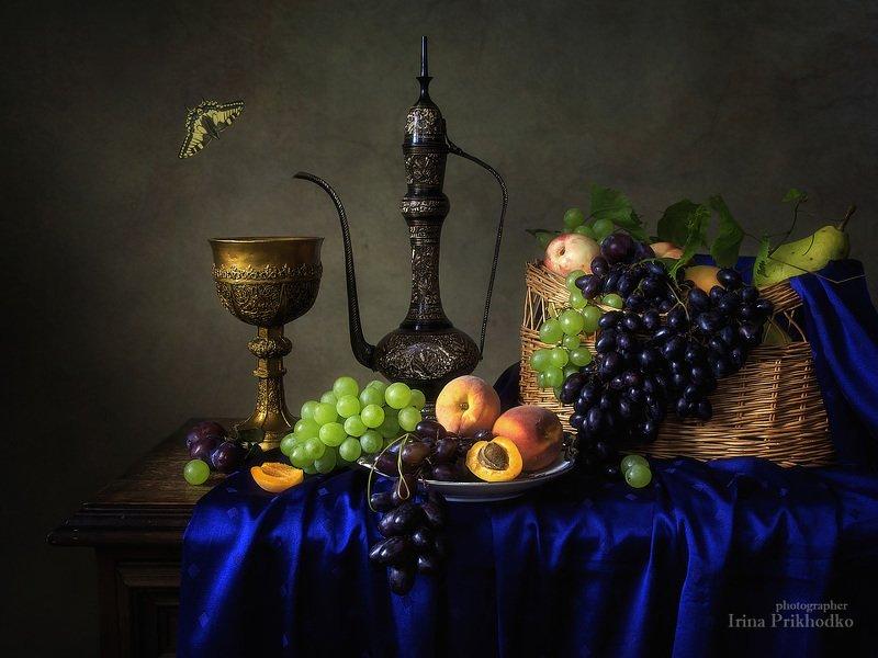 натюрморт, фрукты, лето, винтажный, барокко Натюрморт с фруктами в стиле бароккоphoto preview