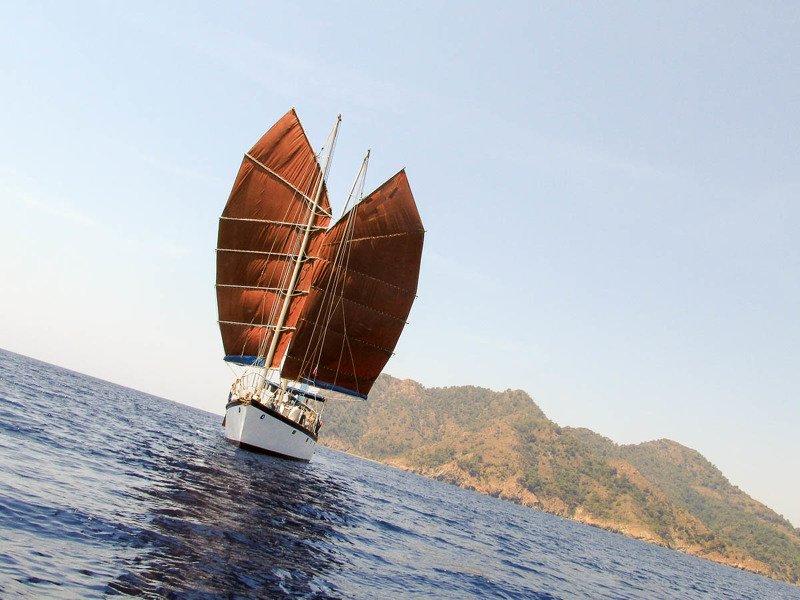 джонка, парусник, парус, лодка, море, средиземное море Джонкаphoto preview