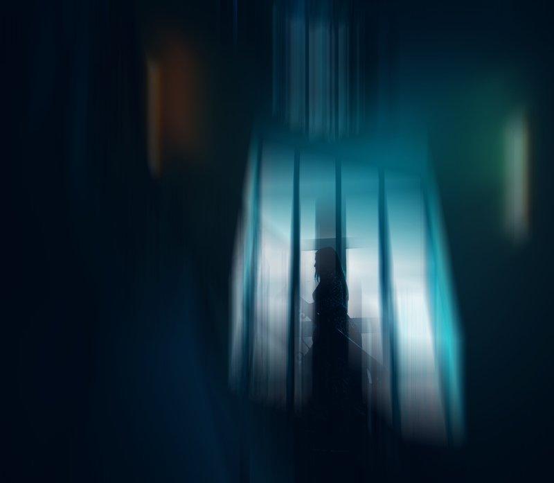 девушка,силуэт,свет,тень parallelphoto preview