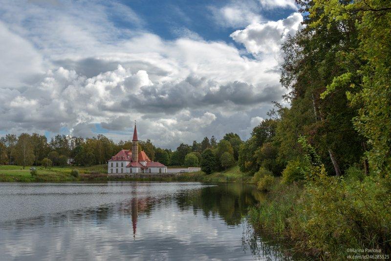 пейзаж, осень, приоратский парк, приоратский дворец, озеро \\\