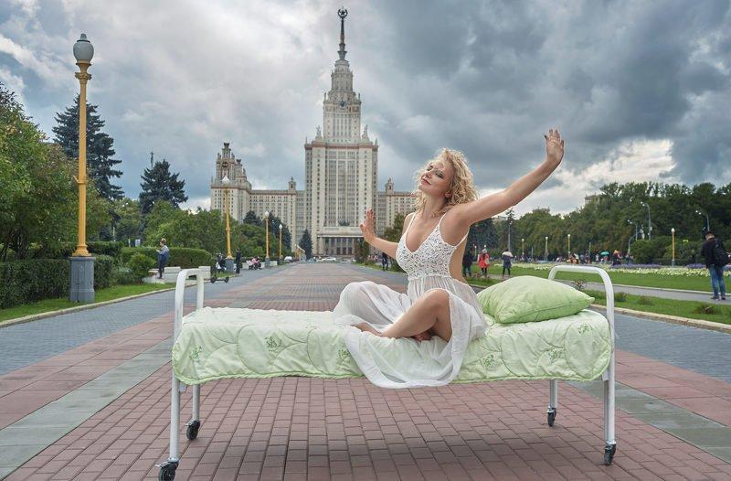 портрет, стритфото, жанр, москва, rekhov Однажды на Воробьёвых горахphoto preview