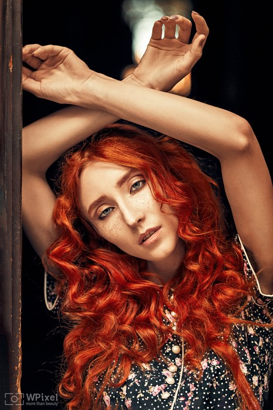 portrait women eyes redhair women by wpixel (More Than Beauty)photo preview