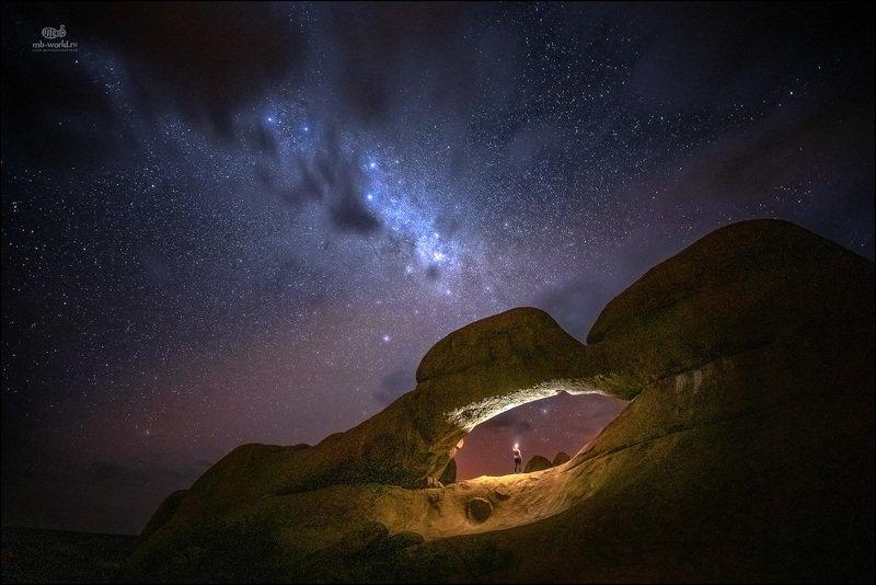 Намибия, Шпитцкопп, фотопутешествия, ночь, звезды,  Звездное небо Намибииphoto preview