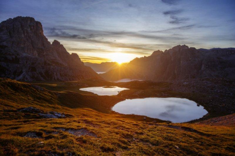 dolomites, italy, италия, доломитовые горы, альпы Sunny lakesphoto preview