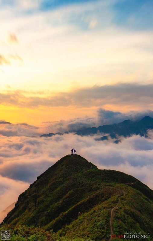 quanphoto, landscape, morning, sunrise, dawn, mountains, clouds, valley, lovely, highland, plateau, vietnam Paradise above the Clouds фото превью
