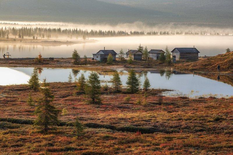 Утро на озере Момонтай на Колыме фото превью