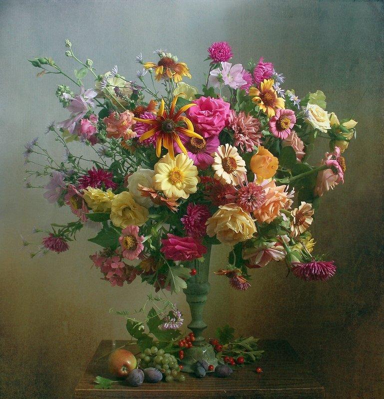 лето,  цветы, натюрморт, марина филатова И льётся музыка цветов фото превью