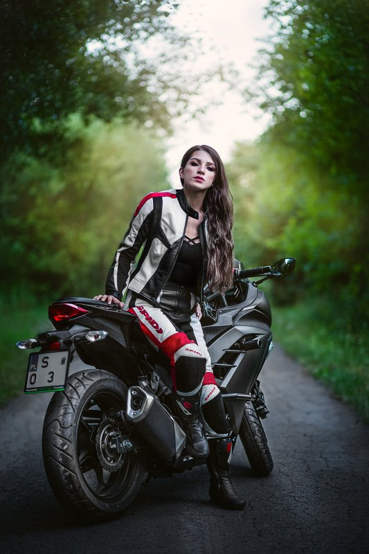 moto, bicke, girl, fashion Bożenaphoto preview