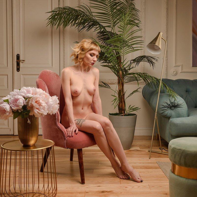 girl, nude, nu, art, девушка, блондинка, ню, портрет, ретро, зеркало, чувственность Rococophoto preview