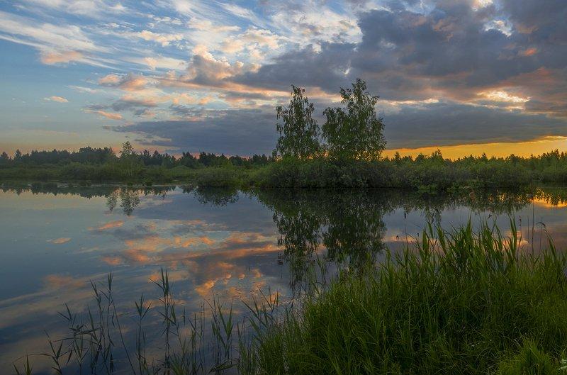 пейзаж,закат Вечерphoto preview