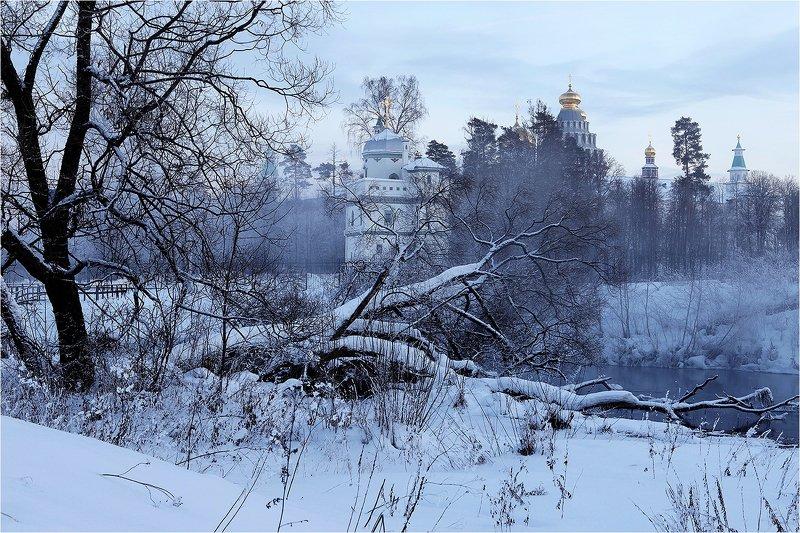 зима, река, монастырь, Монастырь на Истре.photo preview