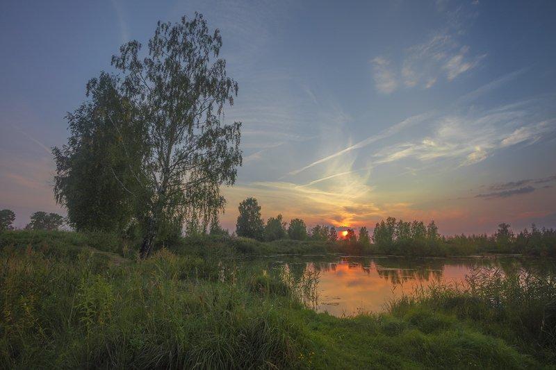 пейзаж,закат,лето,вечер Закатphoto preview