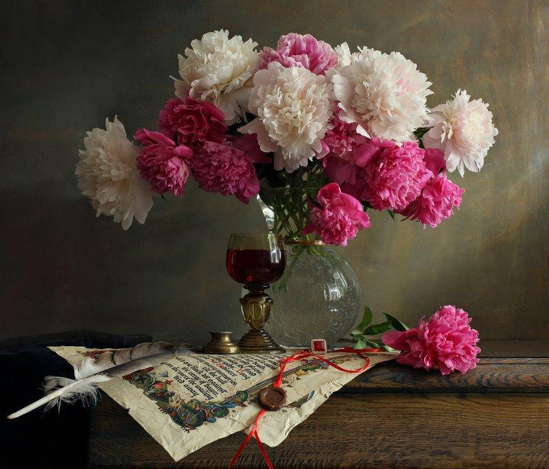 цветы, пионы, натюрморт Натюрморт с пионамиphoto preview