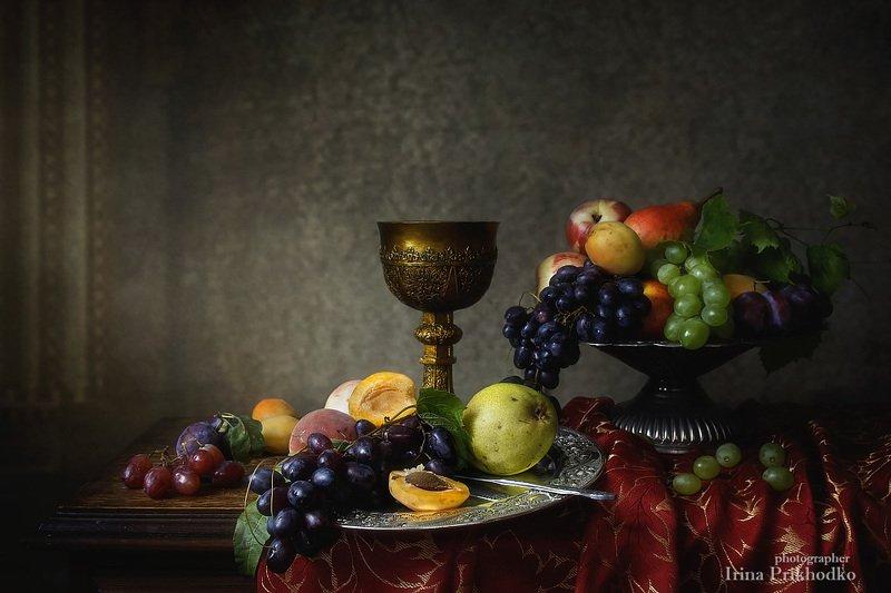 натюрморт, барокко, старинный, фрукты, кубок, винтажный Фруктовый натюрморт в стиле бароккоphoto preview