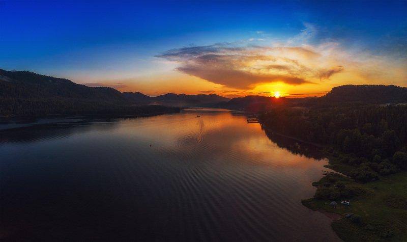 алтай, горный, горныйалтай, телецкое Вечер на Телецком озереphoto preview